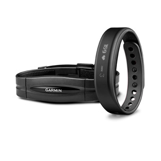 Фитнес браслет Garmin vivosmart HRM bundle Black Large